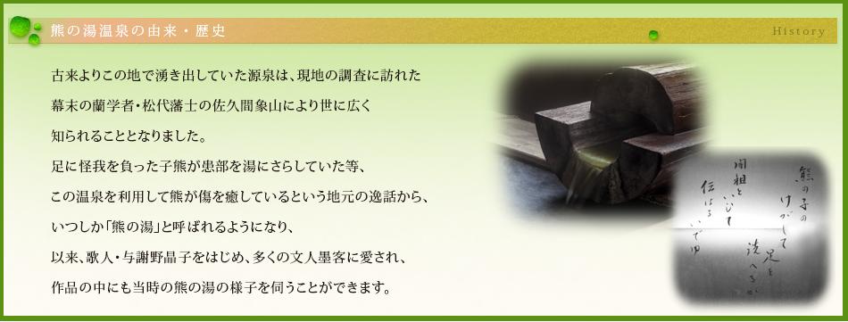 熊の湯温泉の由来・歴史