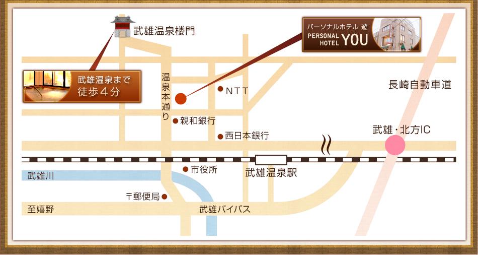 パーソナルホテル 遊 近隣地図