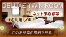 deluxe twin room このお部屋の詳細を見る